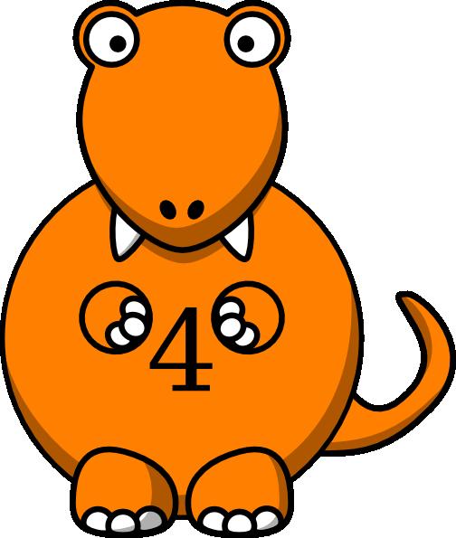 orange dinosaur clip art at clkercom vector clip art