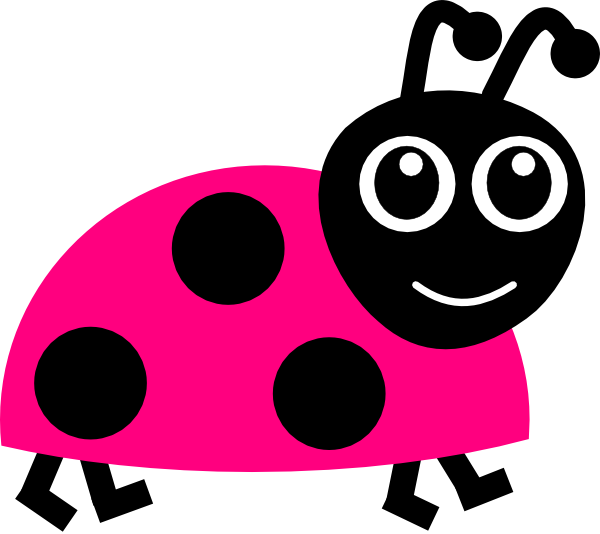 pink lady bug clip art at clkercom vector clip art