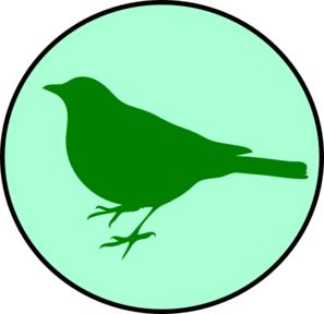 Emerald Circle Bird Clip Art