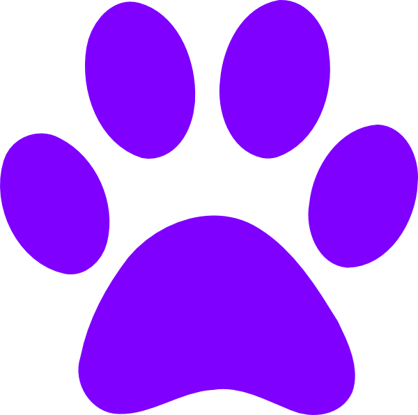 Blues Clues Purple Paw Clip Art at Clker.com - vector clip art ...
