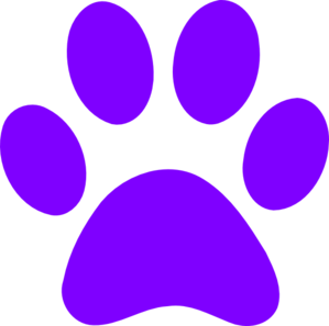 Blues Clues Purple Paw Clip Art