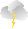 Clouds And Lightning Clip Art