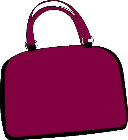 Purple Bag Clip Art At Clker Com Vector Clip Art Online Royalty
