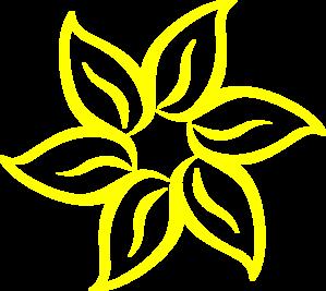 Yellow flower clip art at clker vector clip art online yellow flower clip art mightylinksfo Gallery