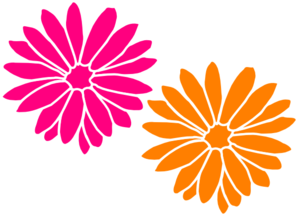Orange And Pink Flowers Clip Art