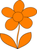 Mahes Orange Flower Clip Art