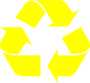 Yellow Recycle Arrows Clip Art