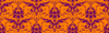 Purple On Orange Damask Clip Art