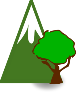 Forested Moutain Clip Art