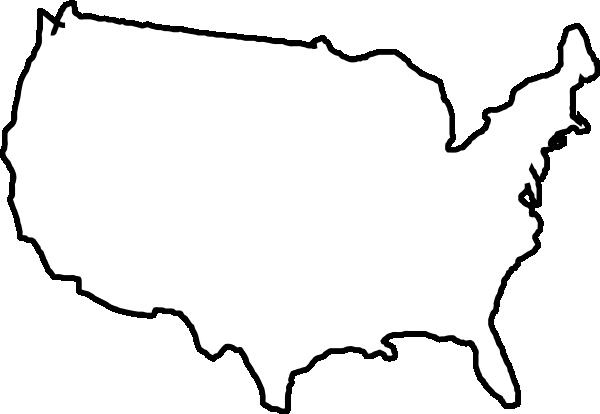 Map Usa Clip Art at Clker.com - vector clip art online, royalty free ...