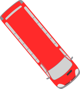 Red Bus - 310 Clip Art