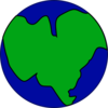 Earth With One Continent Clip Art