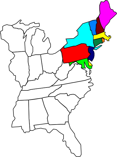 Eastern United States Blank Map Images - Blank map of northeast us