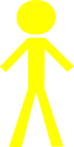 Yellow Stick Man Clip Art