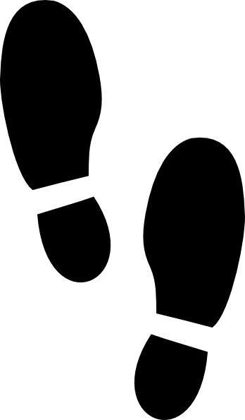 shoe print large clip art at clkercom vector clip art