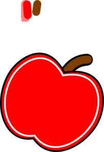 Red White Apple Clip Art