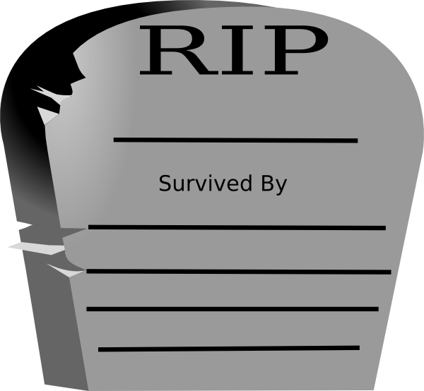 rest in peace word graveyard stone clip art at clker com