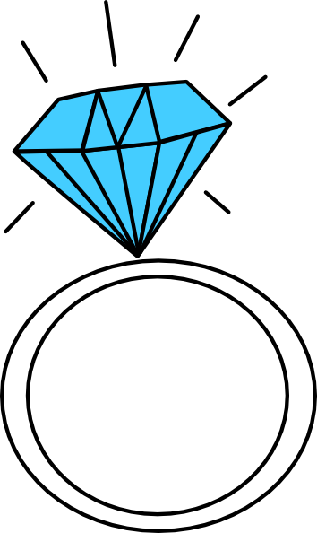 Diamond Ring-teal Clip Art at Clker.com - vector clip art ...