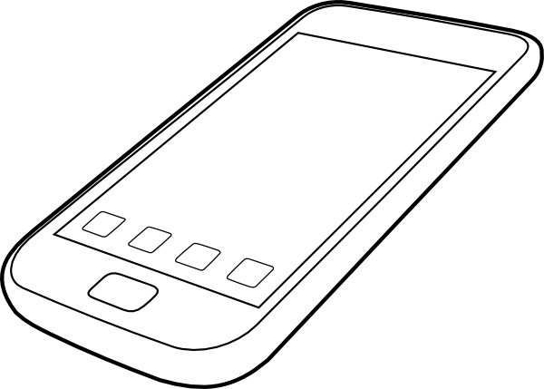 Smartphone By Ocal Clip Art at Clker.com - vector clip art ...