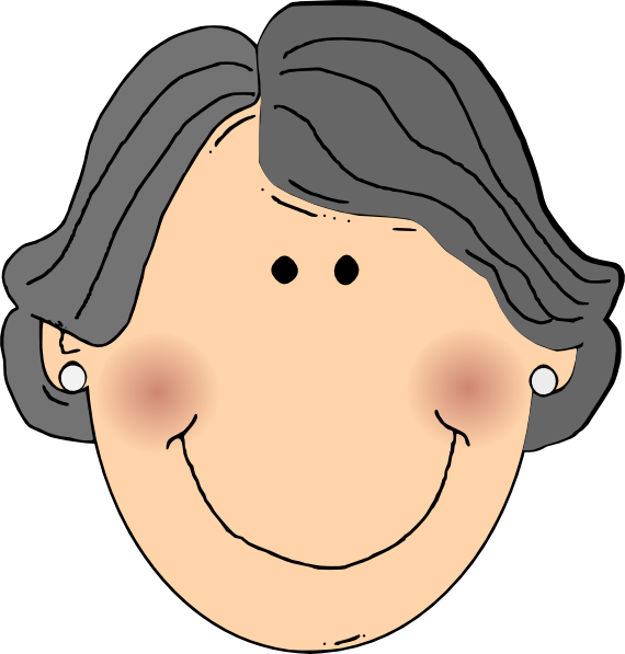 Happy Grandma Clip Art at Clker.com - vector clip art ...