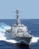 At Sea With The Guided Missile Destroyer Uss Cole (ddg 67). Clip Art