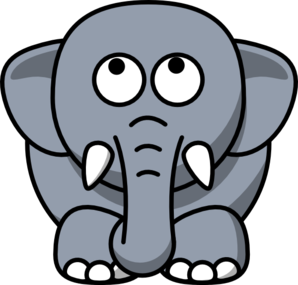 Elephant Looking Up Clip Art