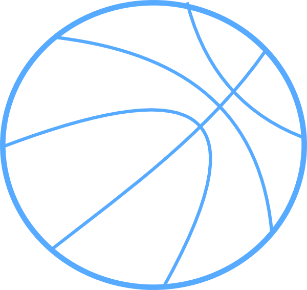 blue basketball outline clip art at clker com vector clip art rh clker com free basketball clipart images basketball clipart free black and white