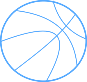 Blue Basketball Outline Clip Art
