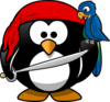 Pirate Penguin Clip Art