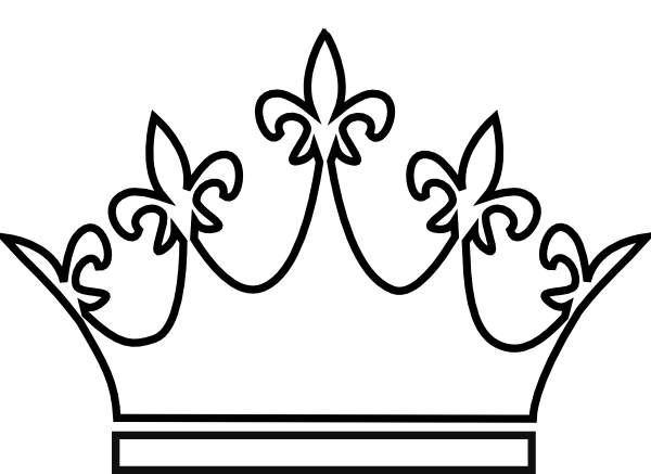 Simple king crown outline - photo#24