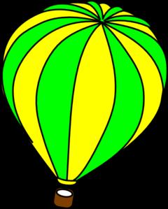 Hot Air Balloon Green Clip Art at Clker.com - vector clip art ...