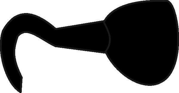 black hook clip art at clker com vector clip art online royalty rh clker com Fish Hook Clip Art Captain Hook Clip Art