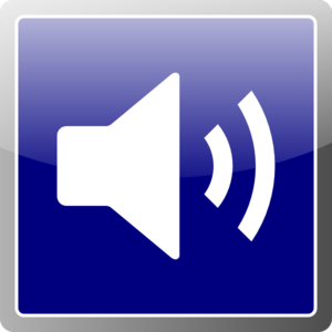 Blue Audio Icon Clip Art