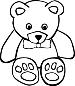 teddy bear outline clip art at clker com vector clip art online rh clker com free teddy bear clipart black and white