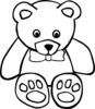 Teddy Bear Outline Clip Art