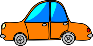 Car Orange Cartoon Clip Art