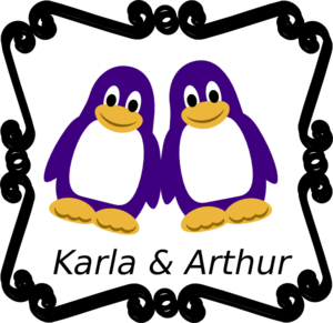 Penguin With Names Clip Art