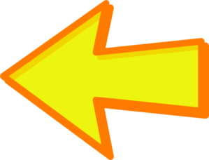 Yellow Arrow Orange Left Clip Art