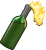 Bottle With Flame Clip Art