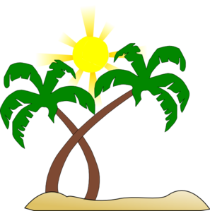 Double Palm Beach Clip Art