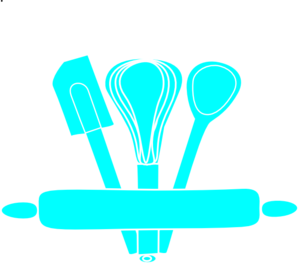 Blue Kitchen Utensils Clip Art