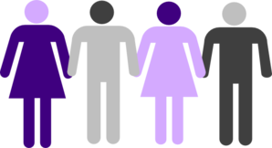 Men Women Holding Hands Clip Art