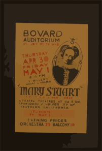 Mary Stuart  Directed By Jerome Coray Clip Art