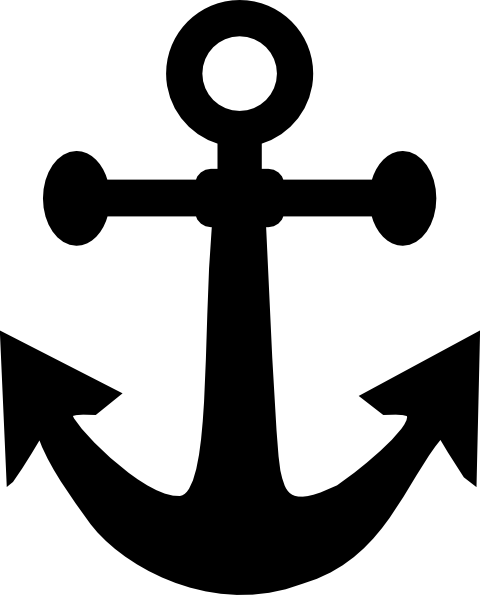 Big Black Anchor clip artNavy Anchor Logo Outline