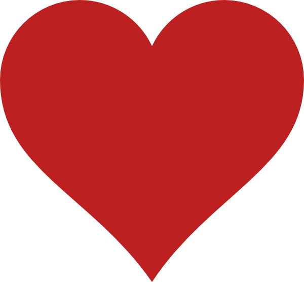 Red Heart Clip Art at Clker.com - vector clip art online, royalty free ...