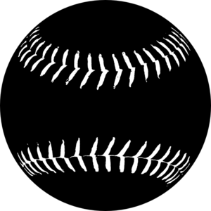 Black Softball Clip Art