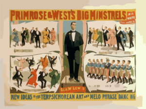Primrose & West S Big Minstrels All White Performers. 3 Clip Art