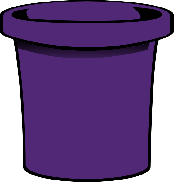 simple bucket purple clip art at vector clip art online