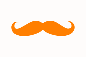 Orange Mustache Clip Art