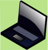 Laptop Green Clip Art